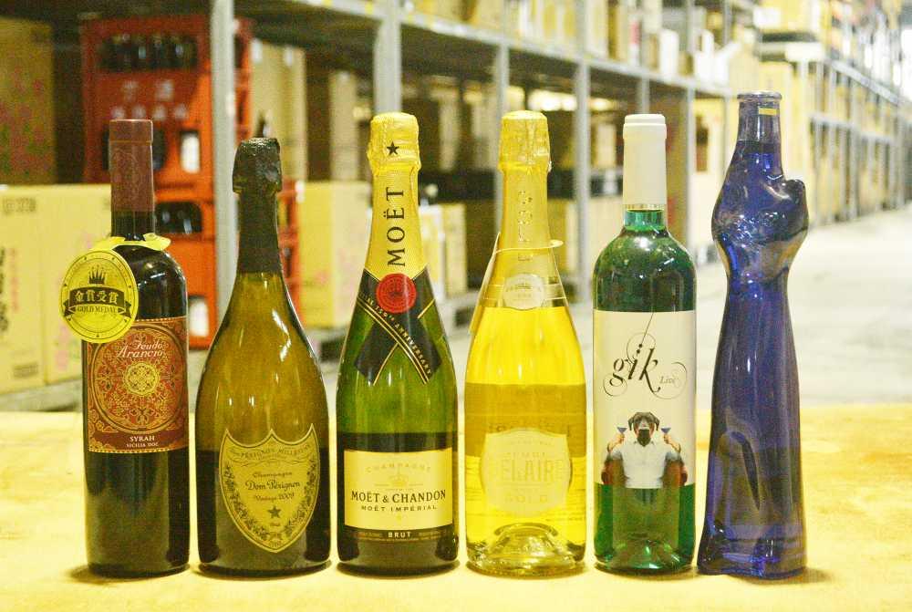 6種類のワイン