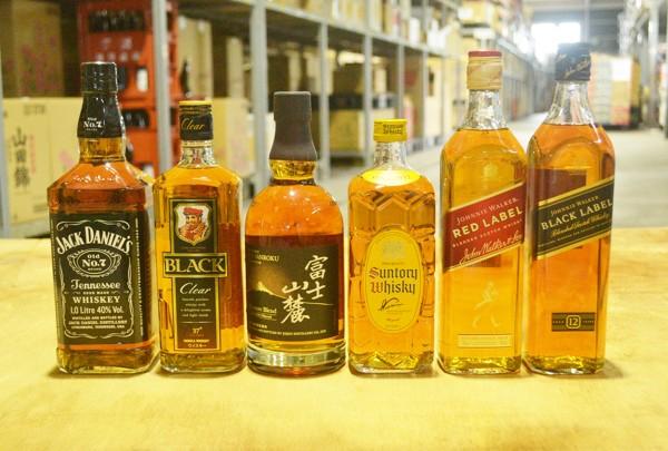 6種類のウイスキー
